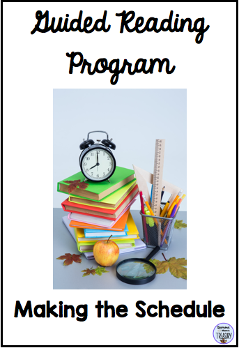 Guided reading program - making the schedule
