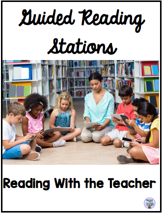 Guided reading stations - reading with the teacher
