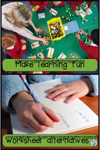 Make learning fun with worksheet alternatives. #mathandreadingactivities #worksheetalternatives