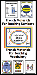 French materials for teaching numbers and vocabulary