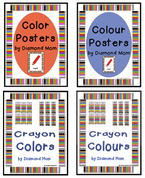 color posters with both the American and Canadian spelling options available