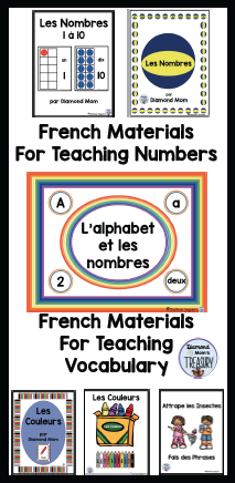 French materials for teaching vocabulary and numbers