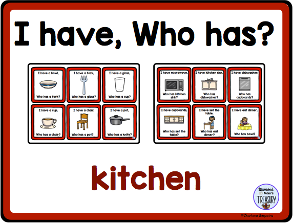 I Have, Who Has? kitchen