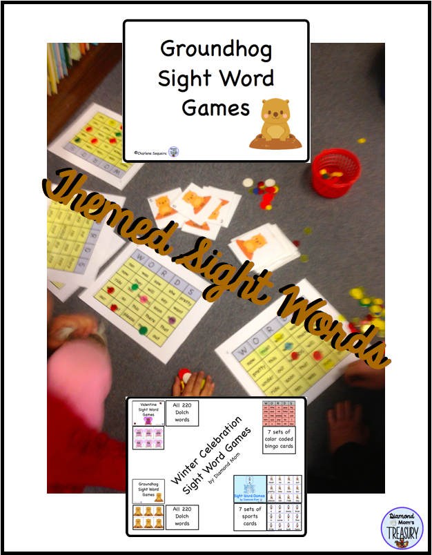 Groundhog themed sight words for the Dolch sight words.