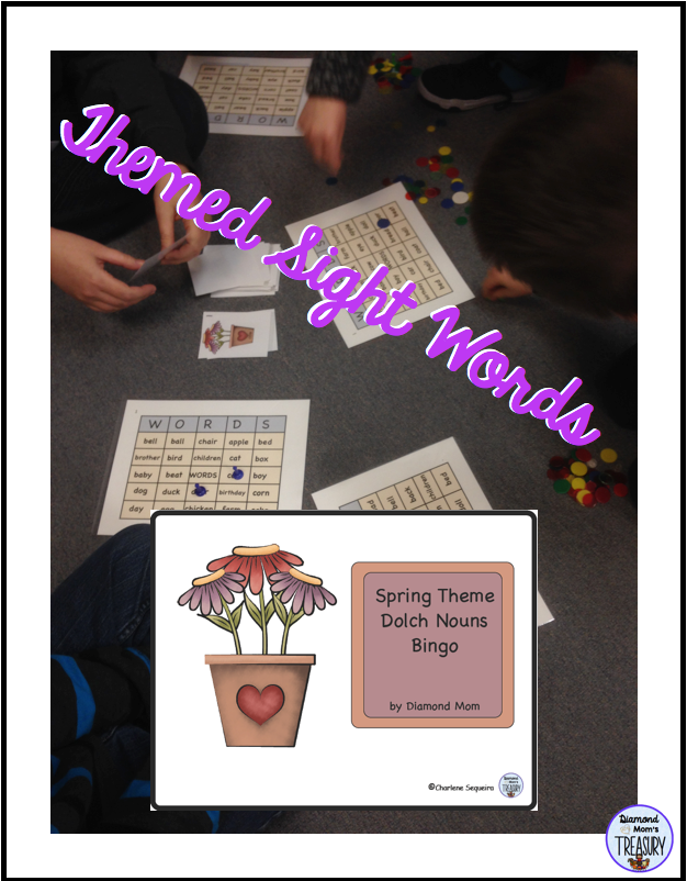 Themed sight words for learning high frequency nouns.